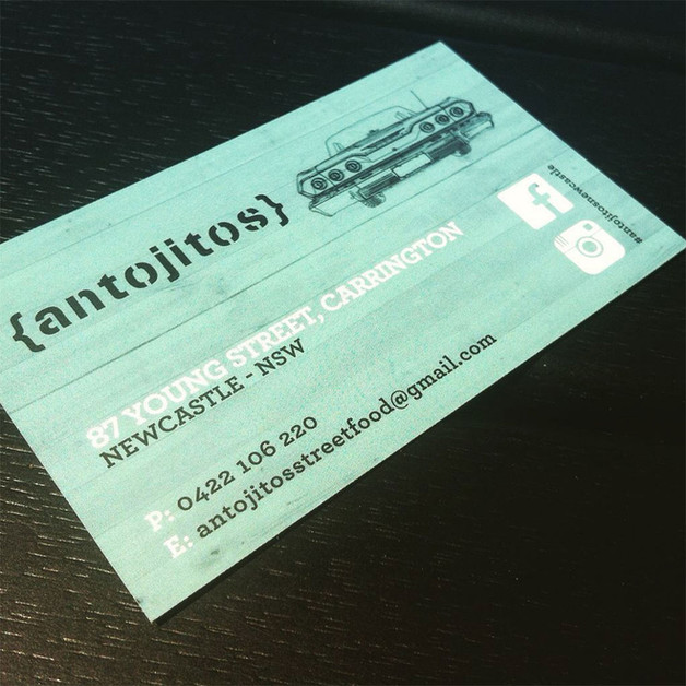 Antojitos Newcastle business card