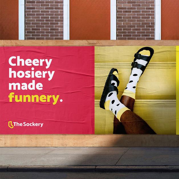 The Sockery - Outdoor billboard 1