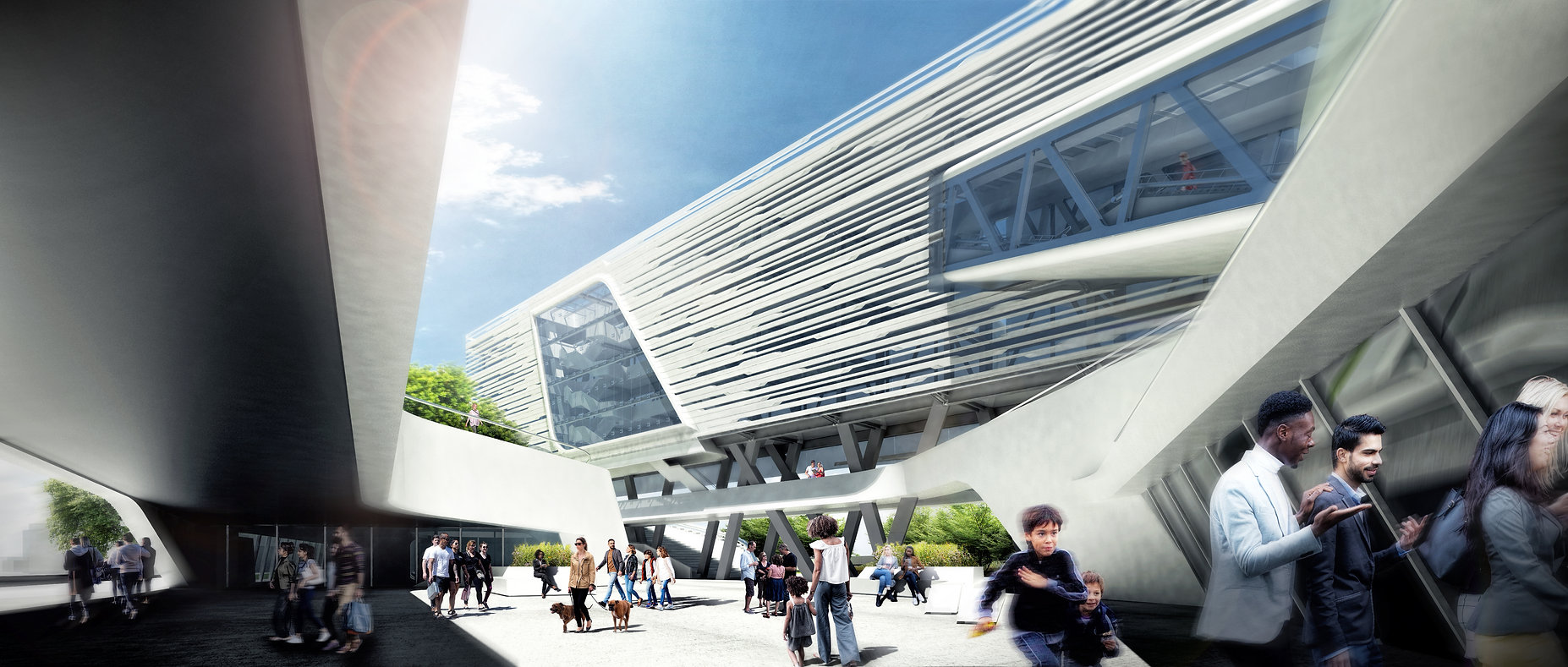 Architecture. Urban confluence design competition for a mix use development