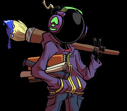 Jbomb Creative Mascot character