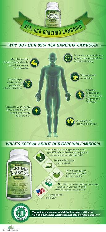 95% HCA Garcinia Cambogia Infographic