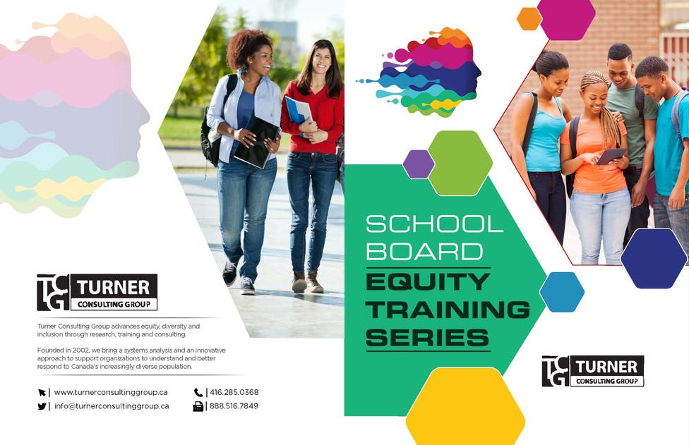 School Board Equity Training Series Brochures