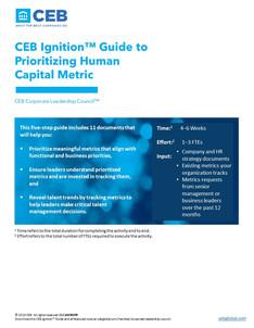 Guide to Prioritizing Human Capital Metric Playbook