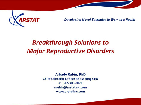 Breakthrough Solutions to Major Reproductive Disorders