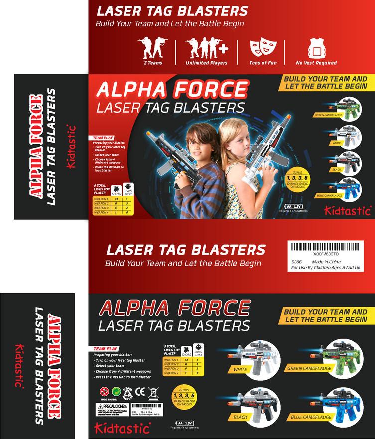 Laser Tag Blasters Build Your Team & let The Battle Begin Brochures