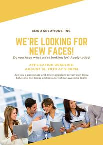 Yellow White Job Post  Vacancy  Announcement Flyer