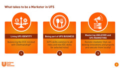 What takes to be a Marketer in UFS