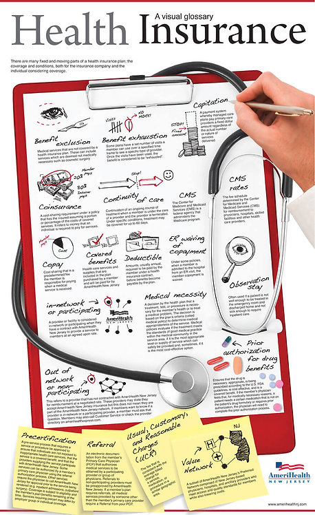 A visual glossary Health Insurance Infographic