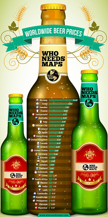 Worldwide Beer Prices Infographic