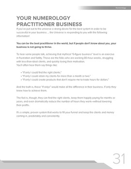 Your Numerology Practitioner Business