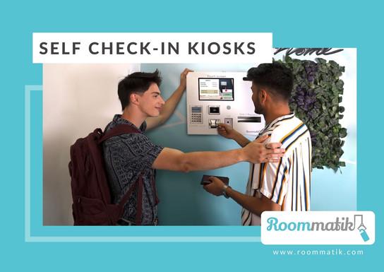 Self check in kiosks