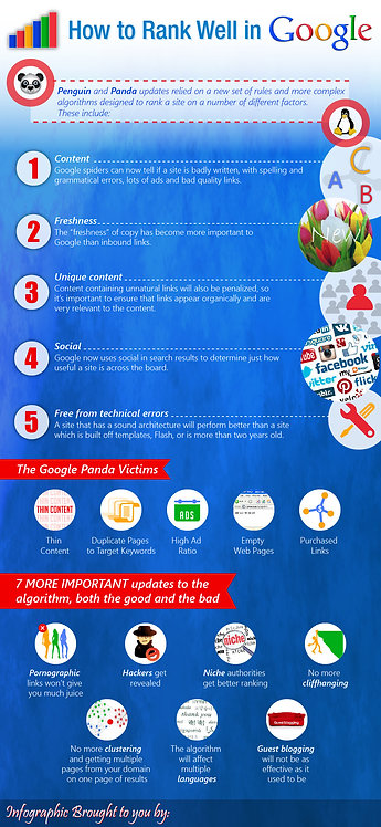 How to Rank Well In Google Infographic