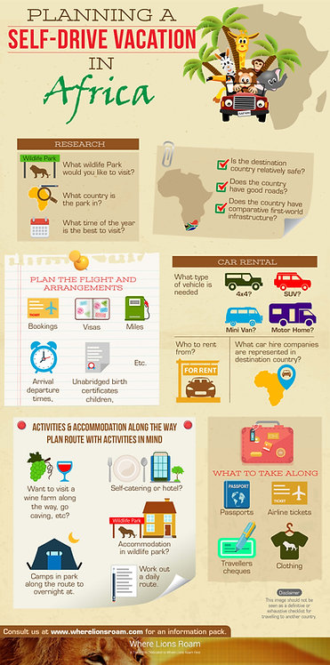 Planning a Self-Drive Vacation in Africa Infographic