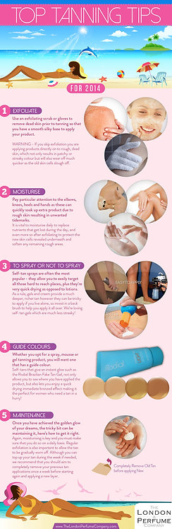Top Tanning Tips Infographic