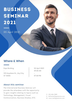 Simple Blue Business Seminar Flyer