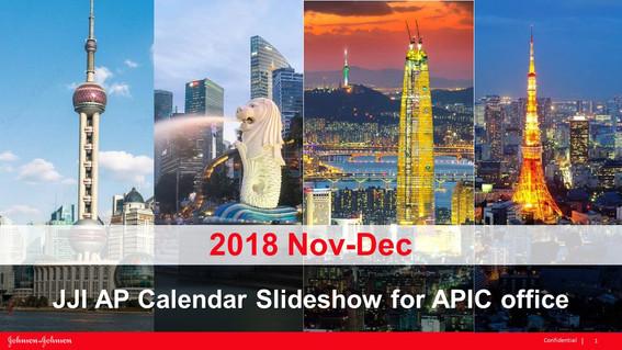 JJI AP Calendar Slideshow for APIC office
