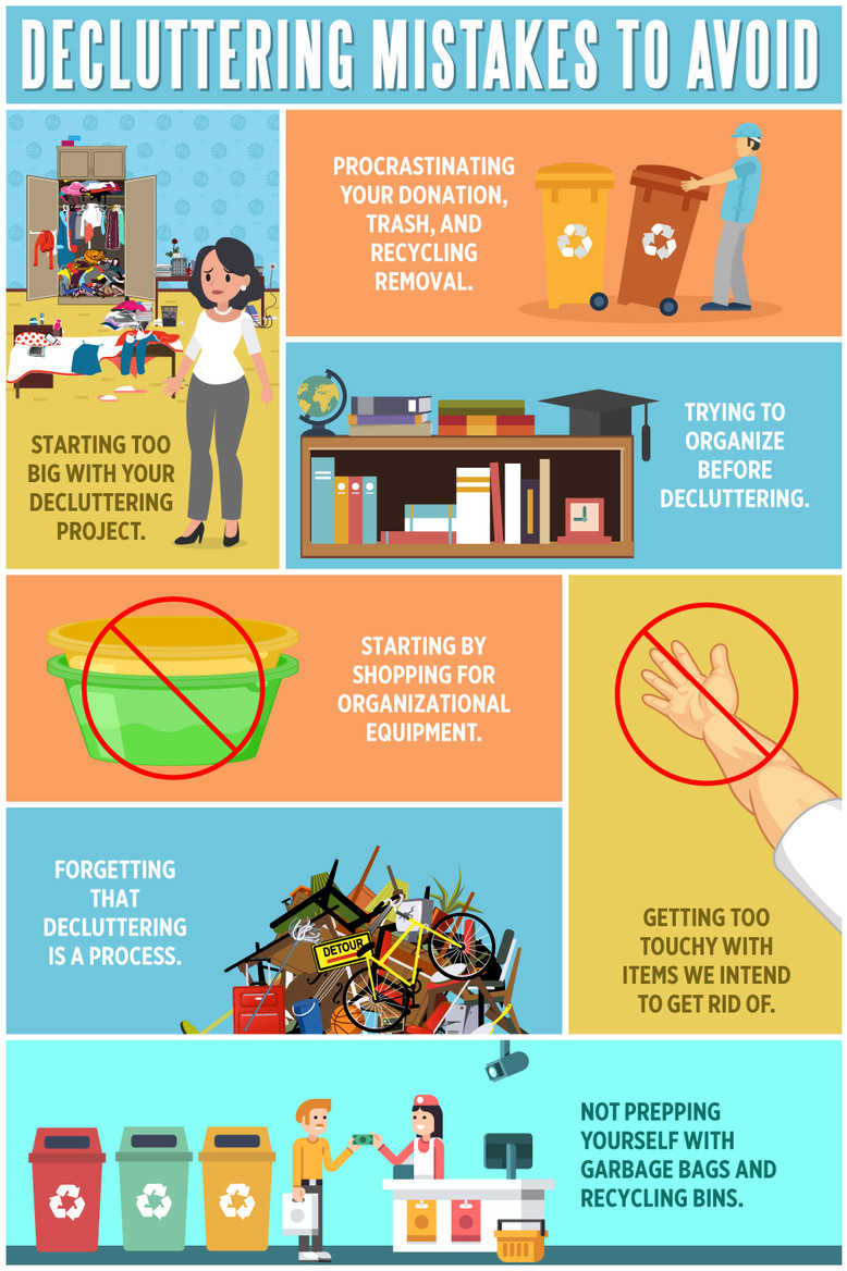 Decluttering Mistakes to Avoid