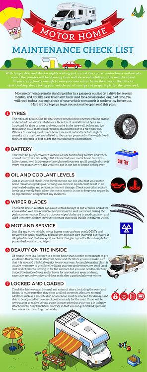 Motor Home Maintenance Check List Infographic