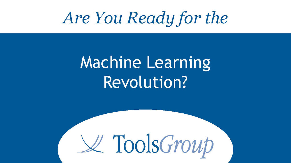 Are You Ready for the Machine Learning Revolution Brochures