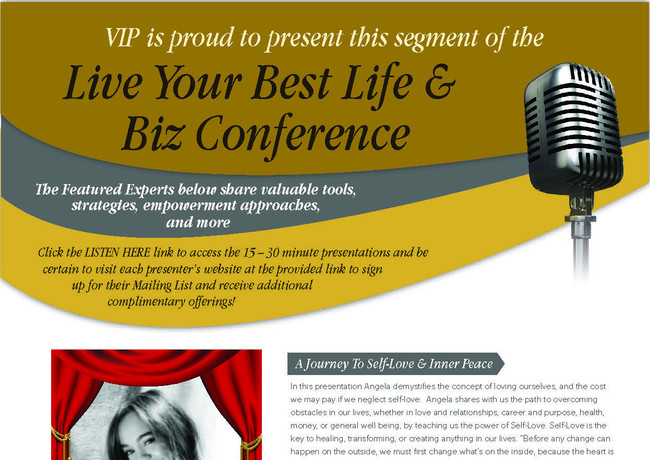 VIP is Proud to Present This Segment of the Live Your Best Life & Biz Conference