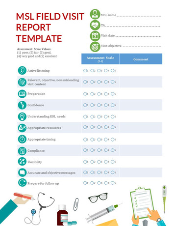 MSL Field Visit Report Template Infograpic