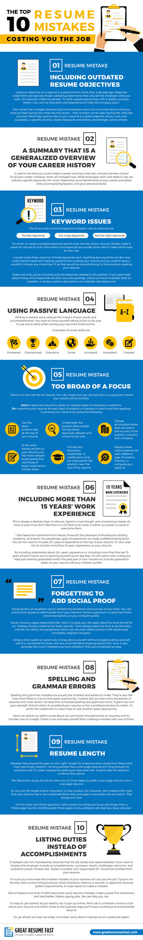 The Top 10 Resume Mistakes that Cost You the Job