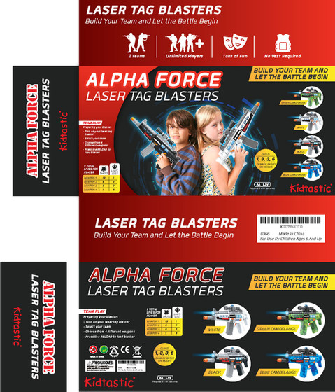 Laser Tag Blasters Build Your Team & let The Battle Begin