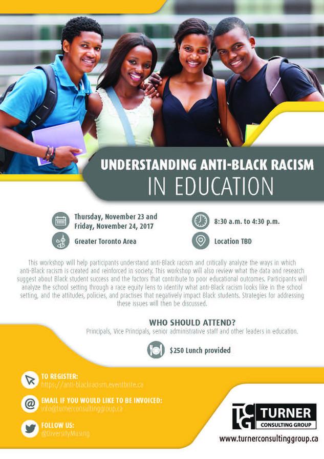 Understanding Anti-Black Racism in Education Brochure