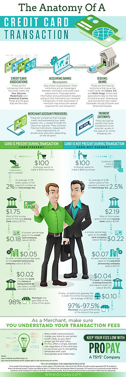 The Anatomy of a Credit Card Transaction Infographic
