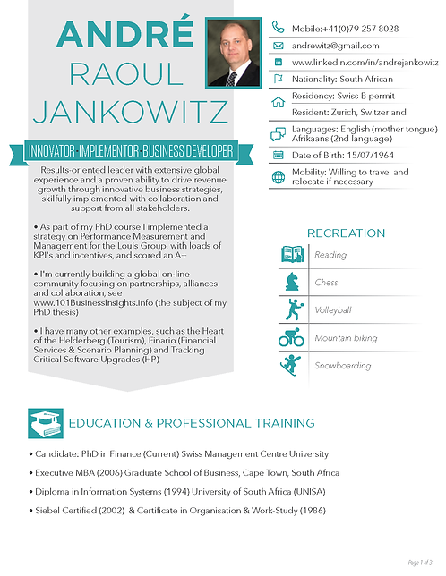 Andre Raoul Jankowitz Infographic