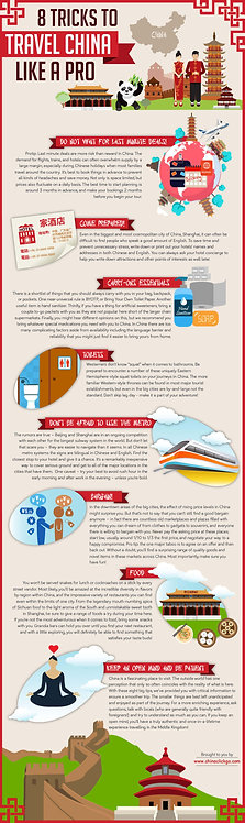 8 Tricks to Travel China Like a Pro Infographic