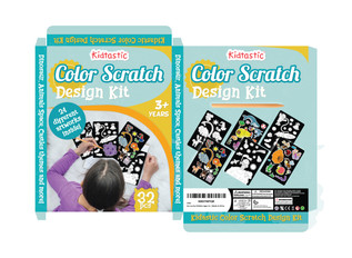 Kidtastic Color Scratch Design Kit