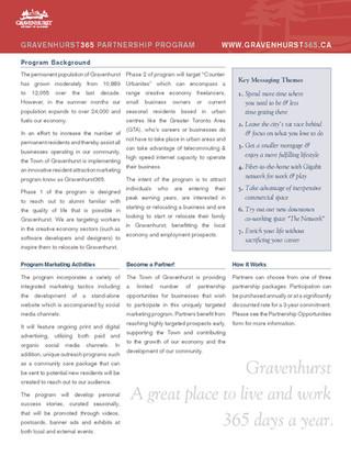 Gravenhurst 365 Partnership Program_Page 1