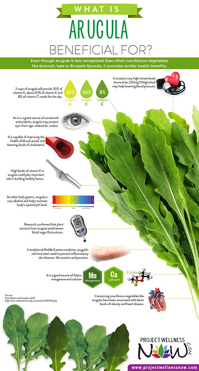 What Is Arugula Beneficial for Infographic