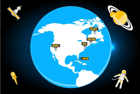 Rotating Globe Infographic