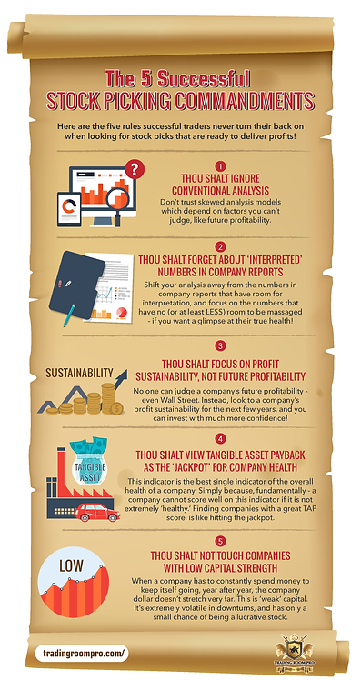 5 Successful Stock Picking Commandments Infographic