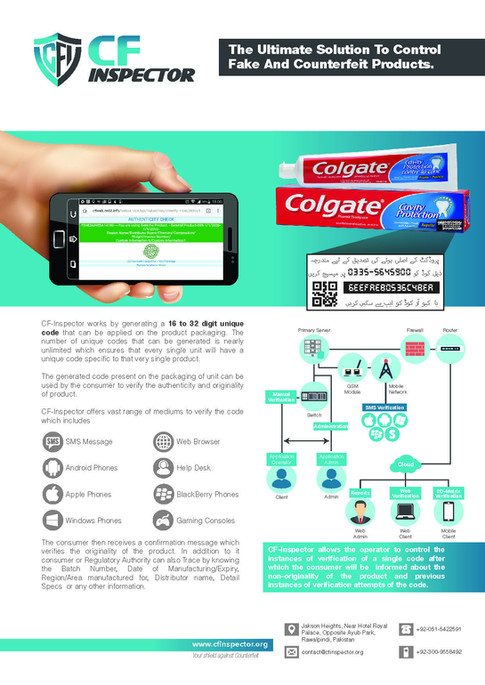 CF Inspector the Ultimate Solution to Control Fake and Counterfeit Products