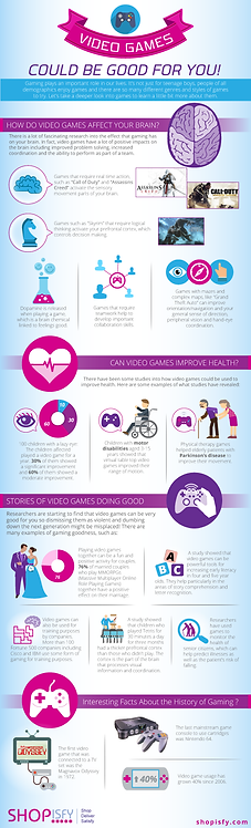 Video Games Could Be Good For You Infographic