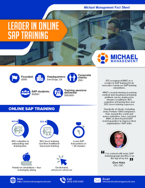 Leader in Online SAP Training Brochures