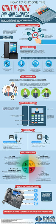 How to Choose the Right Ip Phone For Your Business Infographic