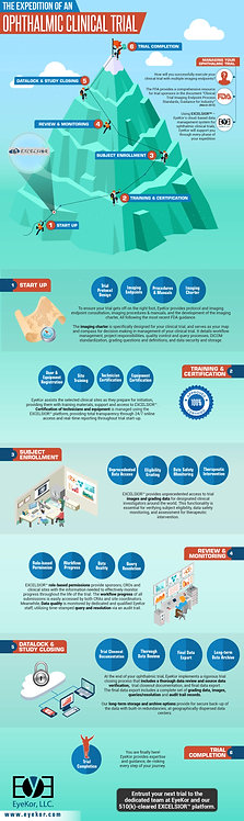 The Expedition of an Ophthalmic Clinical Trial Infographic