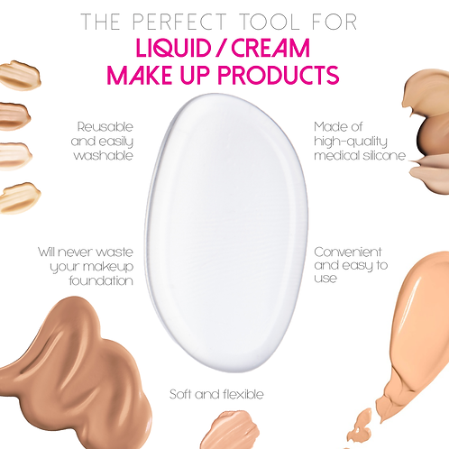 Makeup Beauty Medical Silicone Sponge Infographics for Amazon