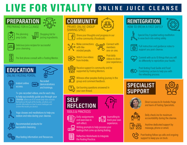 Live For Vitality Online Juice Cleanse