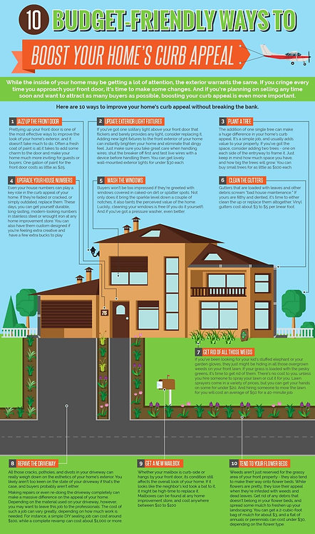 10_Budget-Friendly_Ways_to_Boost_Your_Home's_Curb_Appeal_Infographic