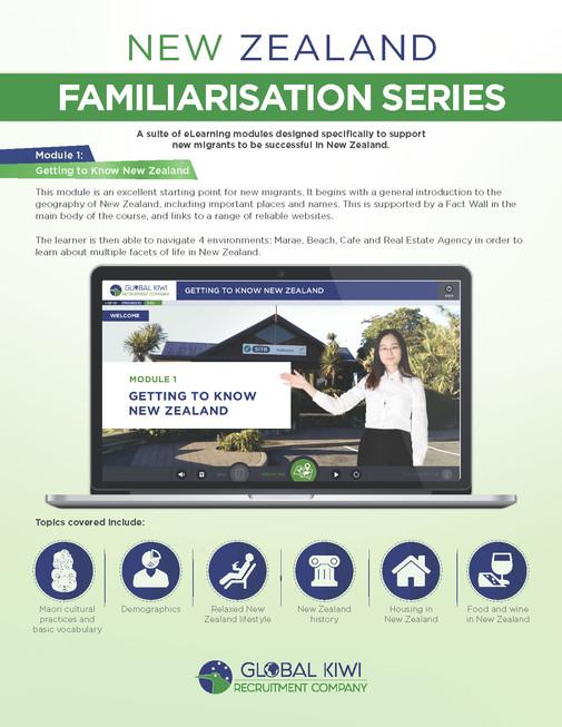 New Zealand Familiarization Series Brochures