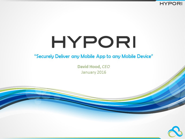 Hypori Investor Deck