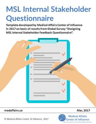 MSL Internal Stakeholder Questionnaire Checklist Playbook