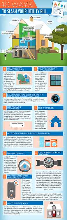 10 Ways to Slash Your Utility Bill Infographic