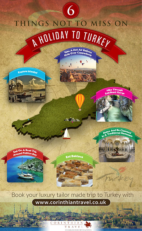 6 Things Not to Miss On a Holiday to Turkey Infographic