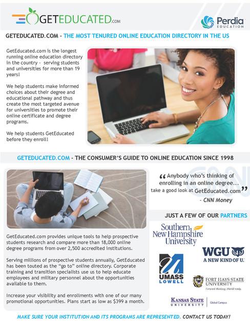 Get Educated Brochures